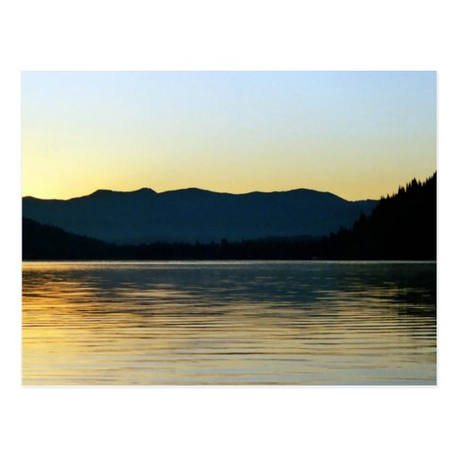 Fall Sunrise on Donner Lake, CA Post Cards
