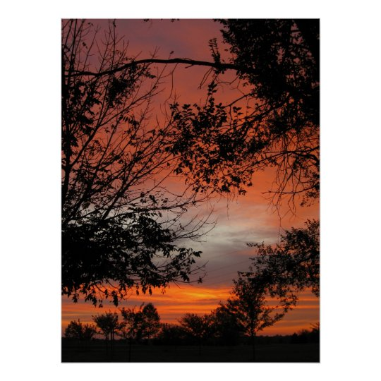 Fall Sunrise Poster