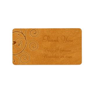 Fall Swirls Autumn Wedding Labels