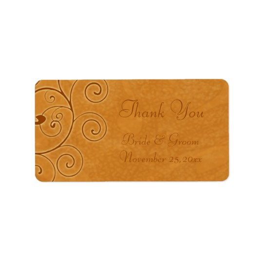 Fall Swirls Autumn Wedding Labels