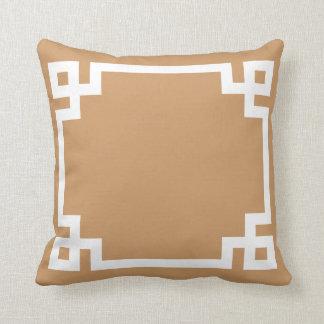 Fall Tan Greek Key Pillow
