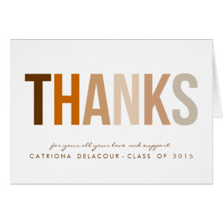 FALL THANKS TYPOGRAPHY | GRADUATION THANK YOU CARD