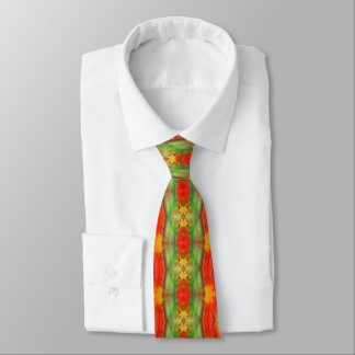 Fall & Thanksgiving Abstract Autumn Leaves Tie