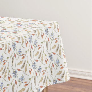 Fall Thanksgiving Leaves & Berries Pattern Tablecloth