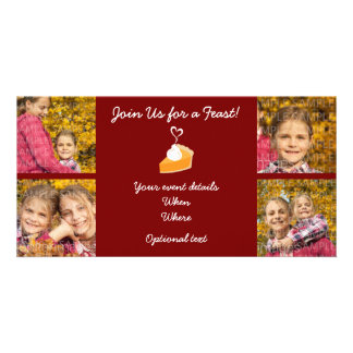 Fall Thanksgiving Photo Card - Four Photos