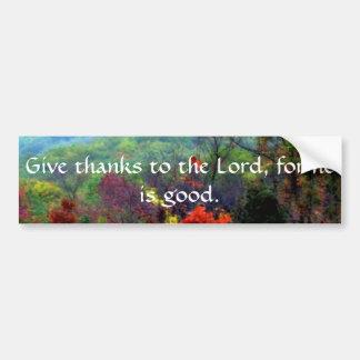 Fall Thanksgiving Photograph Bumper Stickers