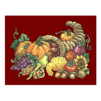 Fall Thanksgiving Postcard Invitation