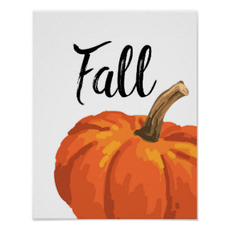 Fall - Thanksgiving - Pumpkin Poster