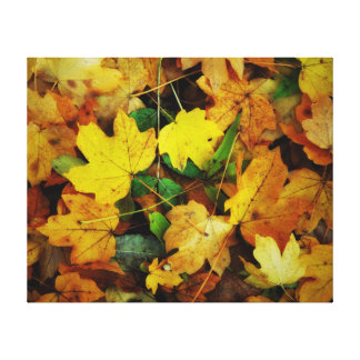Fall-Themed Canvas Print - Golden Leaves