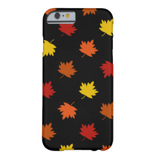 Fall-Themed Case - Polka Maple Leaves, Black