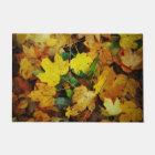 Fall-Themed Door Mat - Golden Leaves