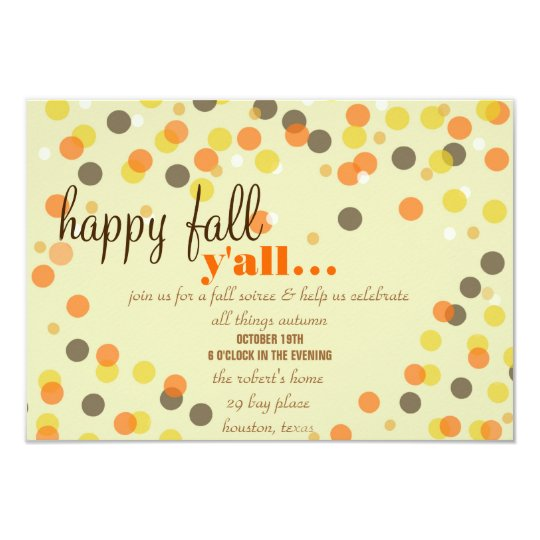 Fall Themed Party Invitation