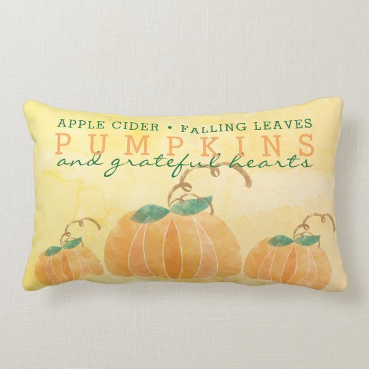 "FALL THEMED Throw Pillow, Lumbar Pillow 13"" x 21"""