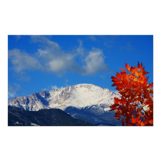 Fall Time in the Colourful Rocky Mountains Poster