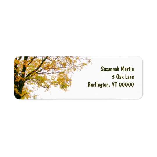 Fall Tree Address Label