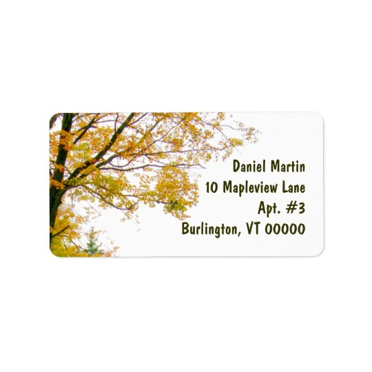 Fall Tree Address Label, Large Label