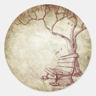 Fall Tree Envelope Seal Wedding Round Sticker