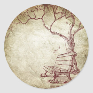 Fall Tree Envelope Seal Wedding Stickers