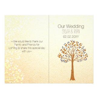 Fall tree,Rustic Wedding bi fold Wedding program 21.5 Cm X 28 Cm Flyer