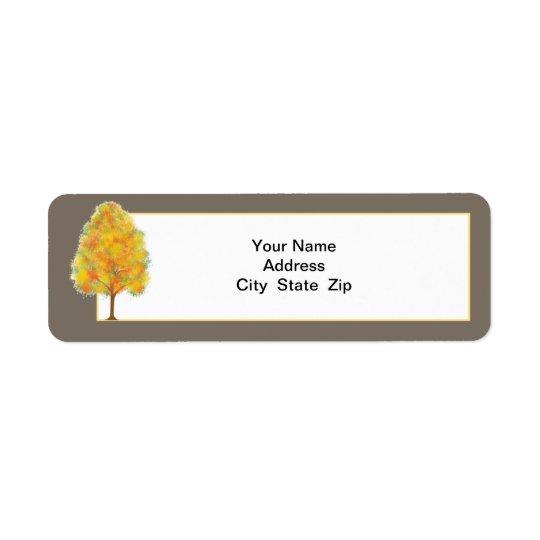 Fall Trees & colourful foliage Return Addess Label