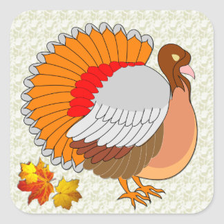 Fall Turkey  ~  Sticker