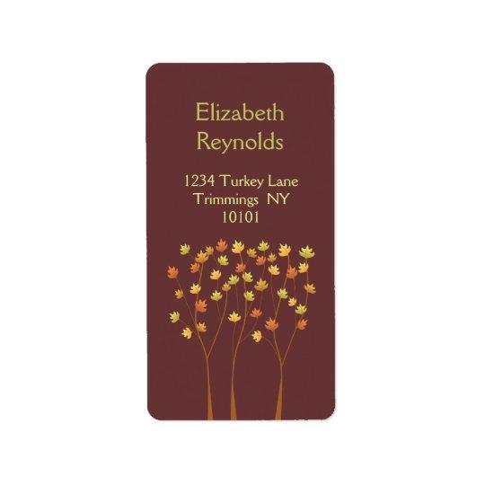 Fall Twig Tree Address Label