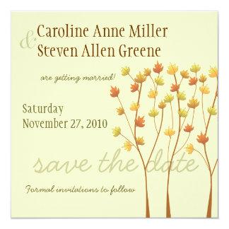 Fall Twig Tree - Save the Date 13 Cm X 13 Cm Square Invitation Card