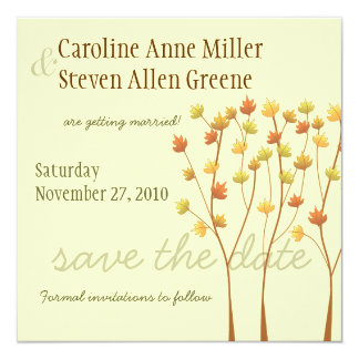 Fall Twig Tree - Save the Date Personalized Invites
