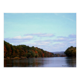 Fall up the Delaware River Poster