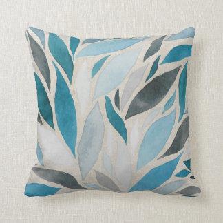 Fall - Watercolor Blues of Autumn Cushion