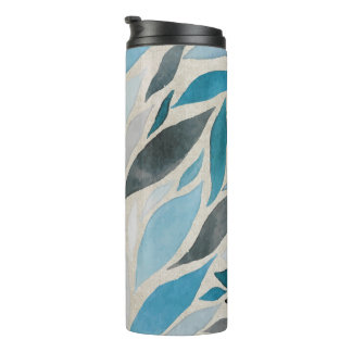 Fall - Watercolor Blues of Autumn Thermal Tumbler