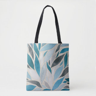 Fall - Watercolor Blues of Autumn Tote Bag