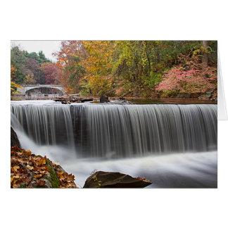 Fall Waterfall at Vanderbuilt Greeting Card