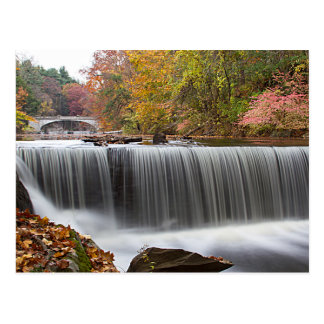 Fall Waterfall at Vanderbuilt Postcard
