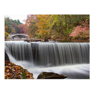 Fall Waterfall at Vanderbuilt Postcard