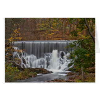 Fall Waterfall Greeting Card