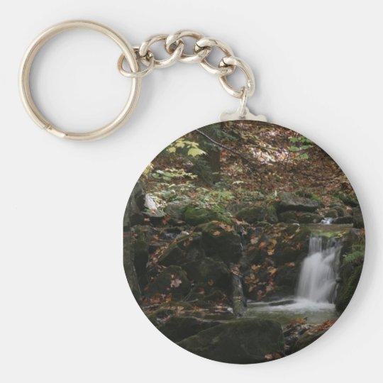 Fall Waterfall Key Basic Round Button Key Ring