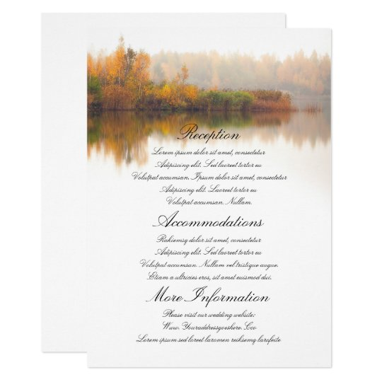 Fall Wedding Details Card