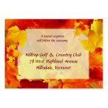 Fall Wedding Enclosure Cards Business Cards