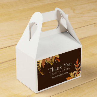 Fall Wedding Favour Box