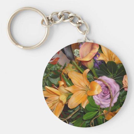 Fall Wedding Flowers Key Chain