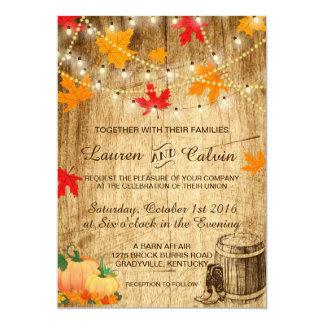 Fall wedding invitation for a rustic wedding