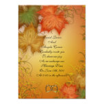 Fall wedding Invitation or party