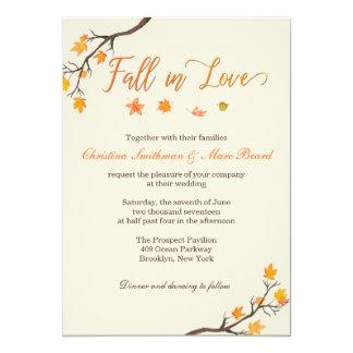 Fall Wedding Invitations - Fall in Love