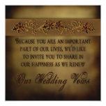Fall Wedding Renewal Invitation Leaves Personalized Invitation