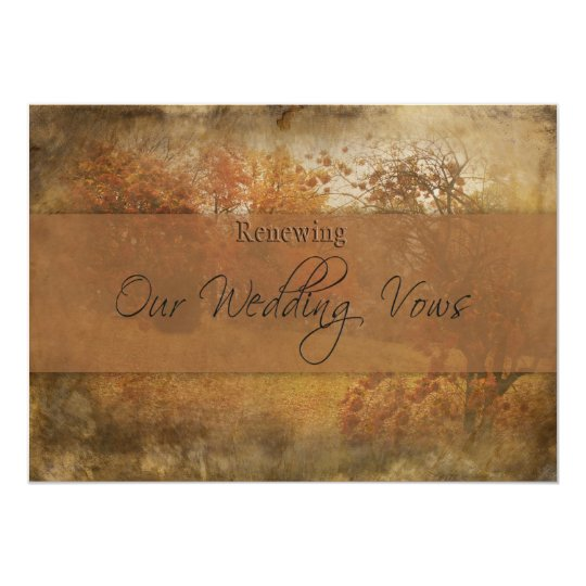 FALL WEDDING RENEWING VOWS INVITATION