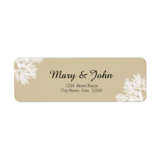 Fall Wedding Return Address Label