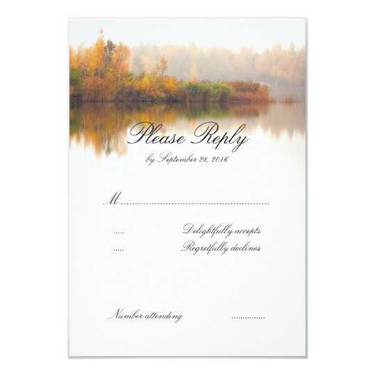 Fall Wedding RSVP Card