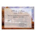 Fall wedding RSVP invitations.  Autumn Landscape 9 Cm X 13 Cm Invitation Card