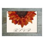 Fall Wedding RSVP - Sunflower & Barnwood
